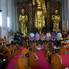 Every day at 9 AM the monks gather to do an hour of chanting.  As you can see not all of them are into it.