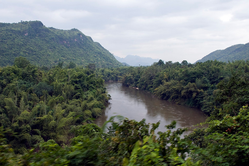 The River Kwai on the way to Hell Fire Pass.