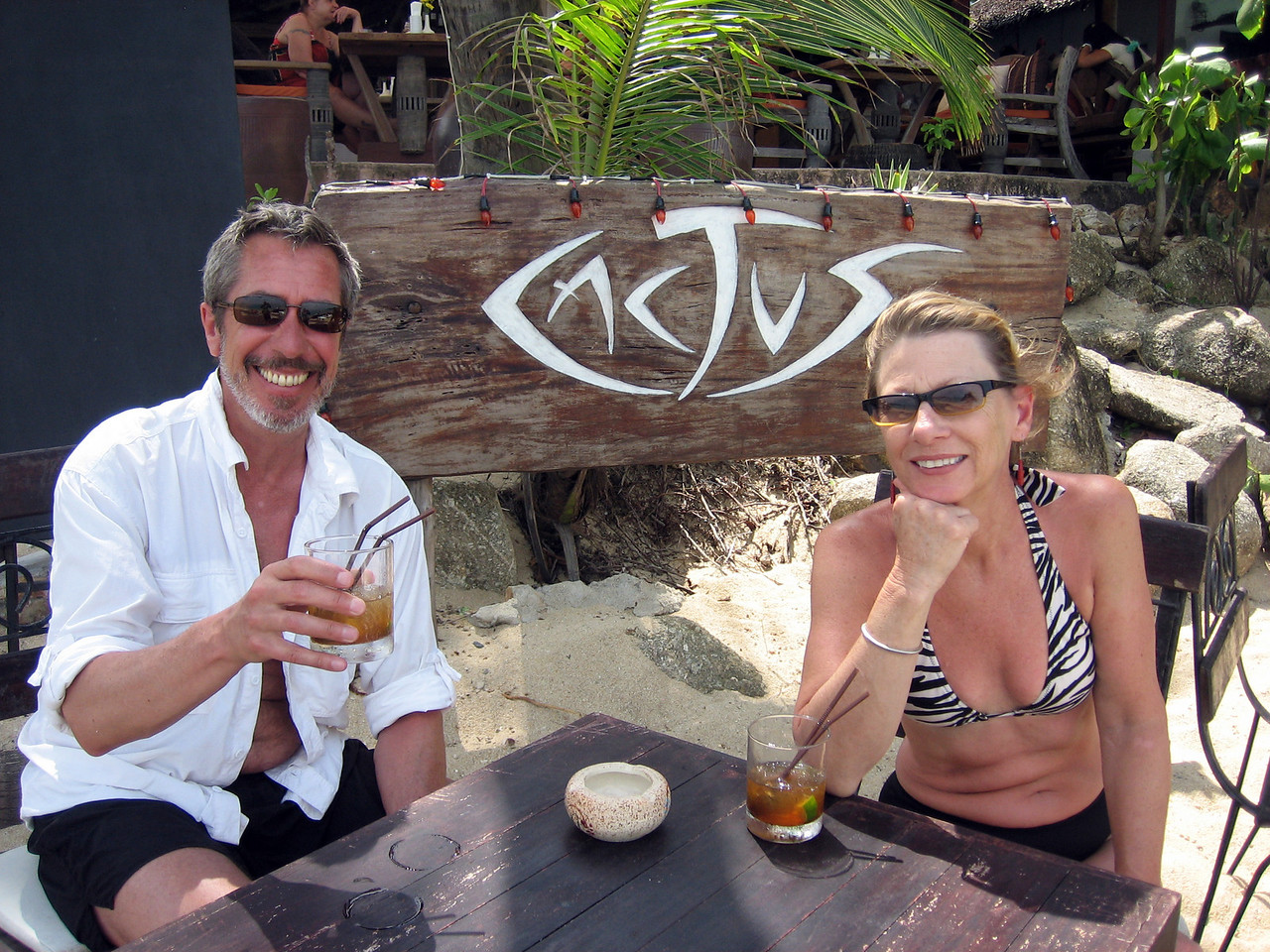 Our favorite place for caiprahinas -- Bo Phut beach
