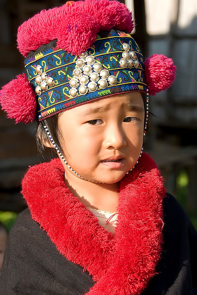 A Mae Salong hill tribe child.