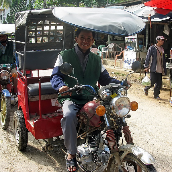 While I took a day off to recover Beth and the group made a side trip into Myanmar (Burma).  Here is another form of transportation they used.