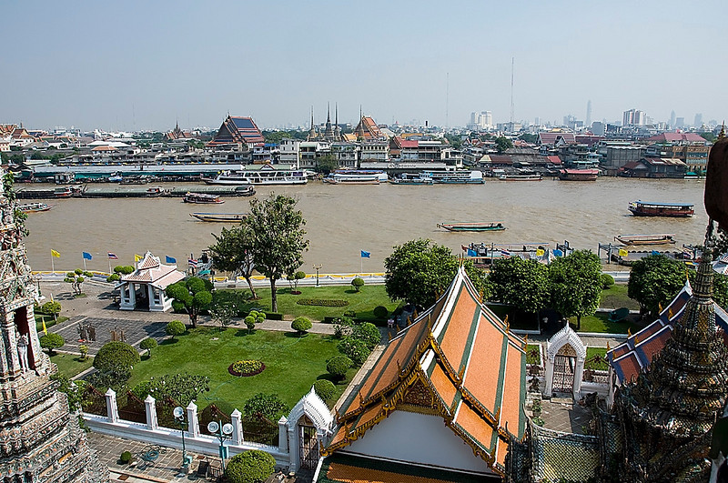 View from the top of Wat Arun - The Temple of Dawn.