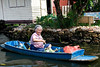 There are many of these small sampan style boats used by the local people for transportation and business.