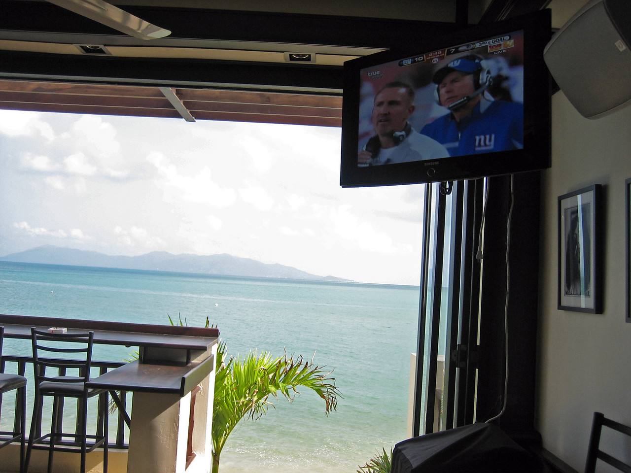 Watched the Superbowl Monday a.m. while having bloodies.  Not a bad spot for a game.