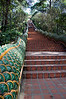 The 306 stairs leading to Wat Phrathat Doi Suthep.  This temple is located high on a mountain top above Chang Mai.