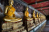 Wat Po shrines where those with money can buy a place for their departed loved ones.