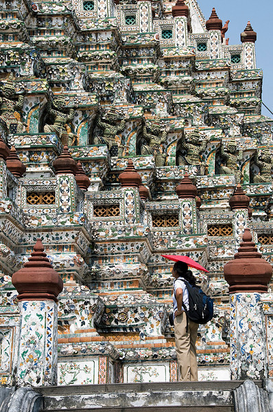 Wat Arun and our guide Aim.