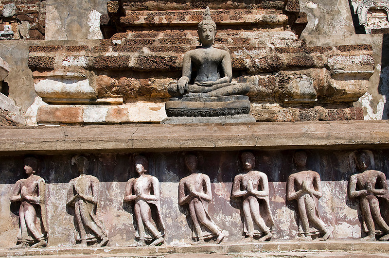 Sukhothai - The walking monks.
