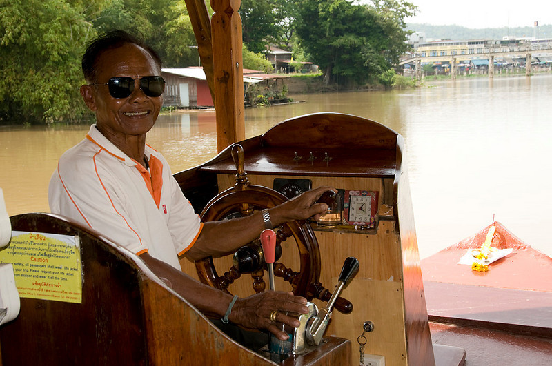 Our pilot of the Khiri Nava during our lunch rice barge cruise.