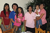 Eight of us had dinner at this family's house on the outskirts of Chang Mai.  I feel bad that I can not remeber her name but the host is on the right.  She was very engaging and a great host.  I would say that this family was upper middle class or more as they lived on a compound of three houses and three generations of the family.  Her house was 2,000 square feet and had two bathrooms.
