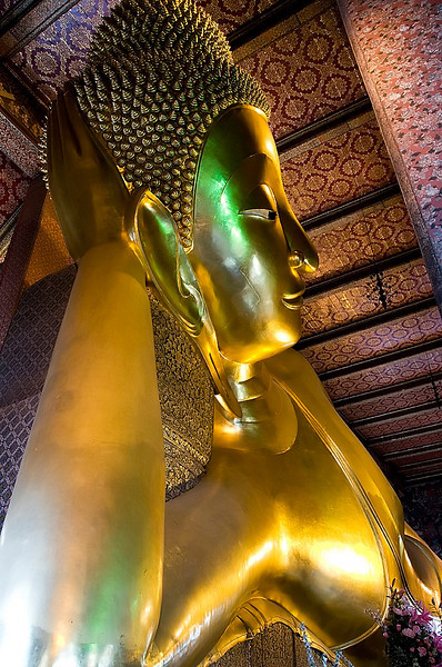 Wat Po's reclining Buddha.  Wat Po is Bangkok's oldest temple.