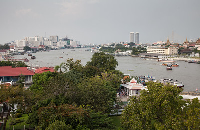Again, looking northeast from Wat Arun.