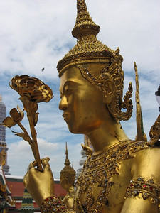 Kinnon, a mythological creature, half bird, half man at the Grand Palace, Bangkok