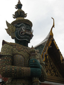 A mythological giant (yakṣa) at the Grand Palace, Bangkok