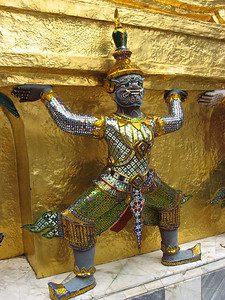 Demon statue, Grand Palace, Bangkok