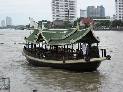 Boats on the Chao Phraya River in Bangkok