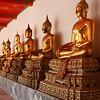 Wat Pho (วัดโพธิ์) in Bangkok - hall of Buddhas