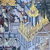 decoration inside Wat Pho (วัดโพธิ์) w the reclining buddha in bangkok