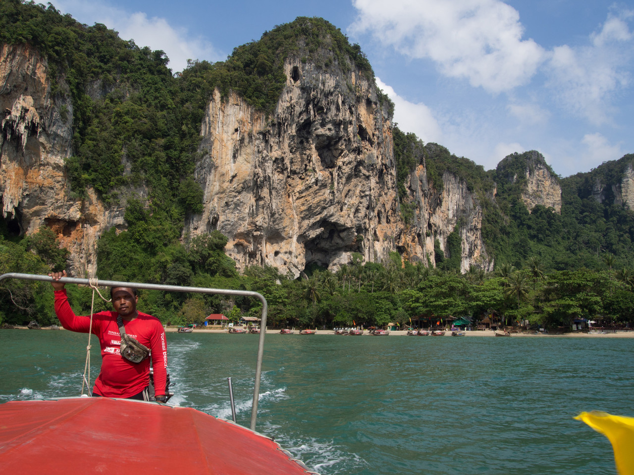 Leaving Tonsai on a longtail... headed for Railay