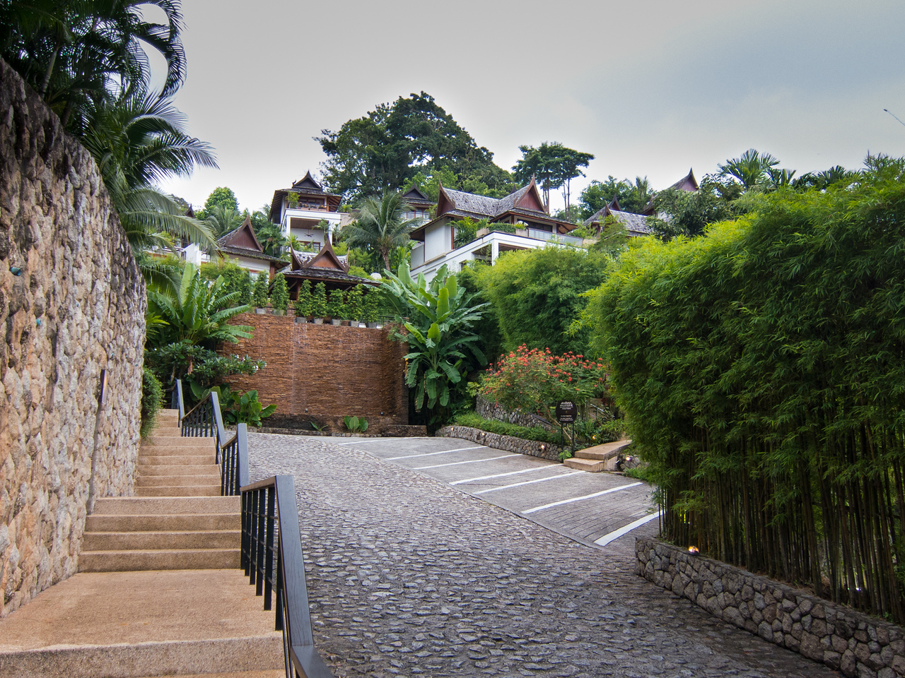 The drive leading up to the room at Ayara Hilltops Boutique Resort & Spa.