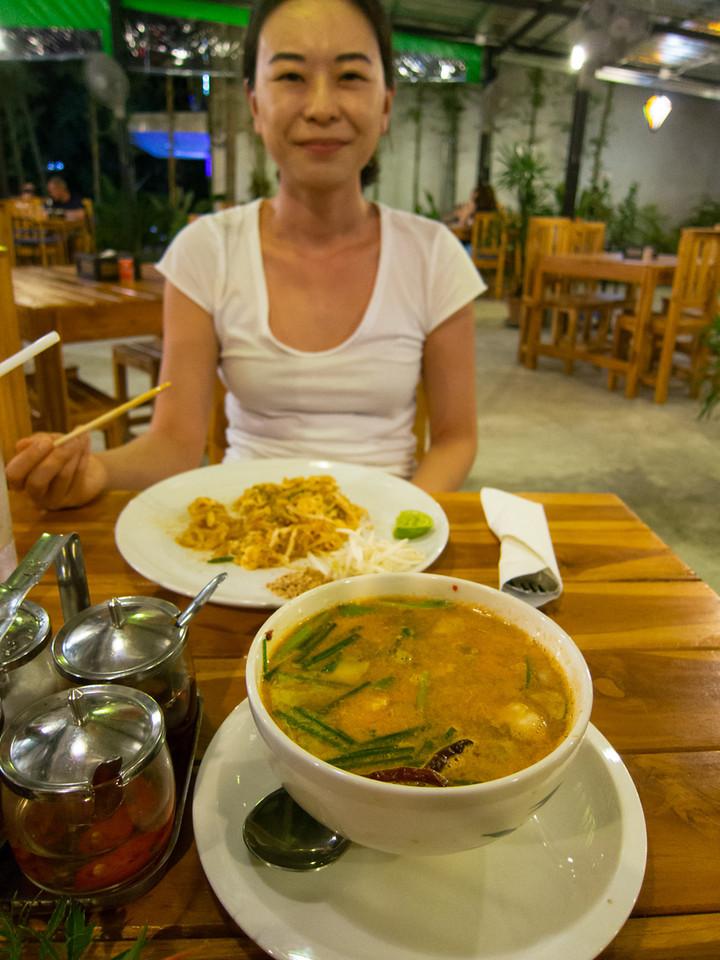 Tom yum and Pad Thai.