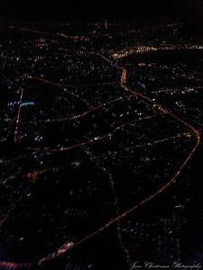 Indflyvning over Bangkok meget tidlig morgen