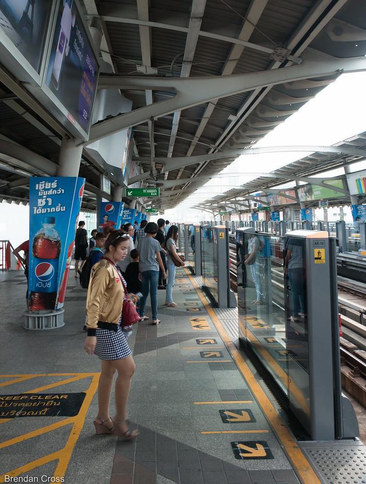 A Bangkok Sky Train stop.