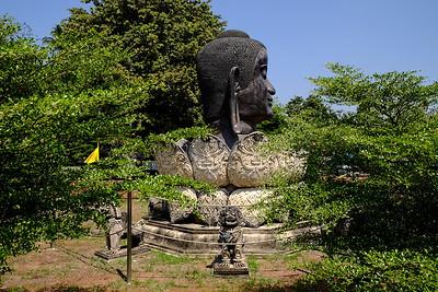 Replica of Bronze Buddha head.