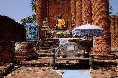 Shrine set in the ruins.