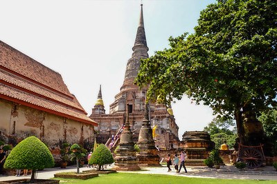 View of Chedi past the Monastery.