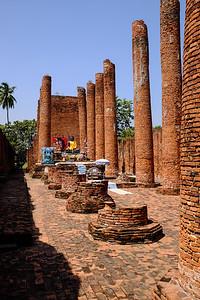 View ruins of the main monastery.