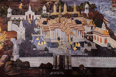 Hand painted rendition of the Grand Palace.