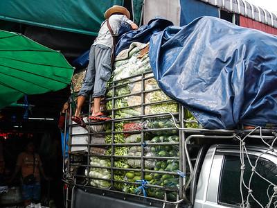 Incoming fresh produce.