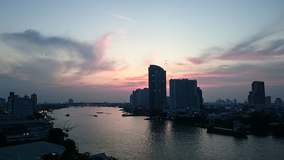 Along the Chao Phraya River.
