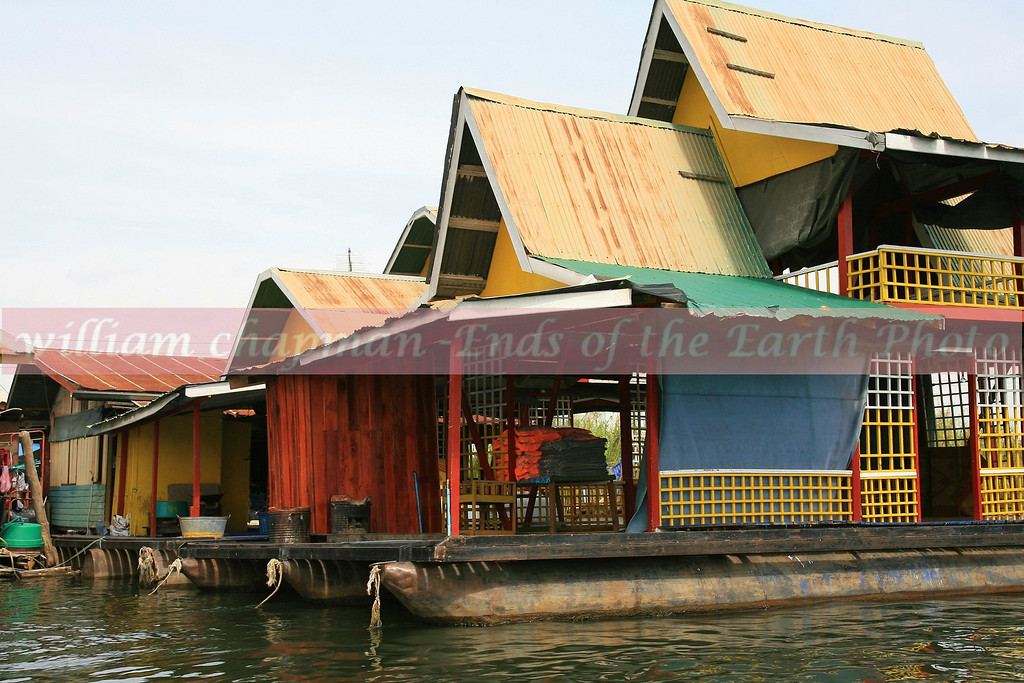 Houseboats on the Kwai River- Thailand