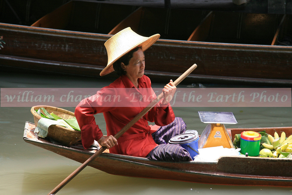 Searching for customers at floating market