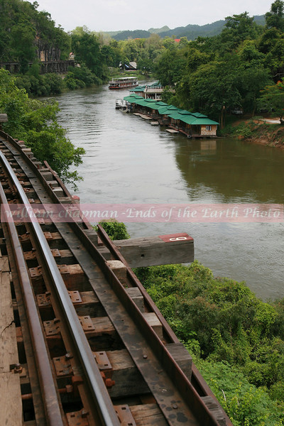 View from Railroad car as it travels along the Kwai River north of Bangkok Thailand