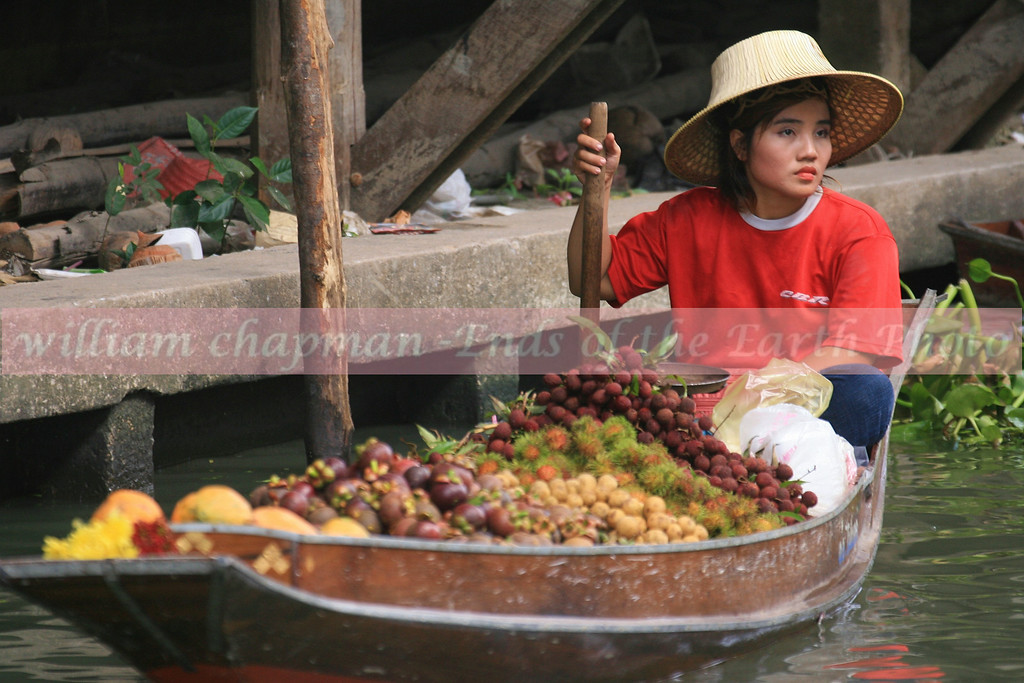 Morning at the floating market