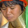 Karen Padaung Woman at Ban Nai Soi 5 Refugee Camp, Maehongson Thailand.