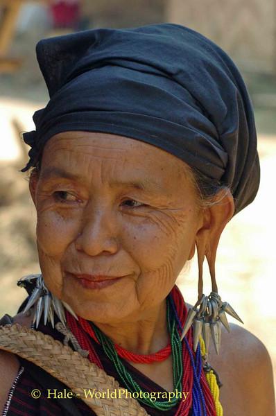 Elderly Hill Tribe Woman, Maehongson Thailand