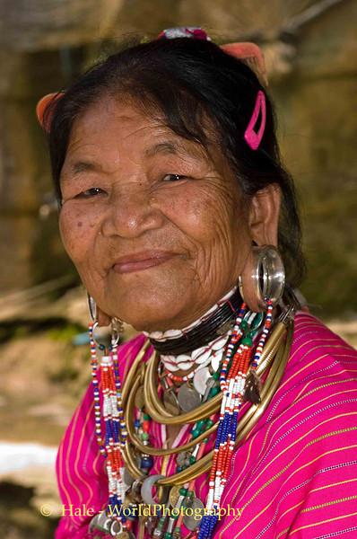 Kayaw Hill Tribe Grandmother, Maehongson Thailand