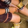 Kayaw Hill Tribe Leg Ornamentation, Maehongson Thailand