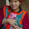 Lisu Hill Tribe Mother Feeding Baby, Maehongson Thailand