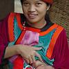 Lisu Hill Tribe Mother Feeding Baby, Maehongson Thailand