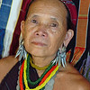 Mature Kayaw Hill Trbe Woman with Enlarged Ear Lobe, Maehongson, Thailand
