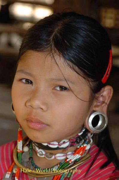 Kayaw Hill Tribe Young Girl, Maehongson Thailand