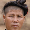 Lahu Hill Tribe Woman With Traditional Hair, Maehongson, Thailand