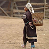 Lahu Elderly Woman Walking Towards Home