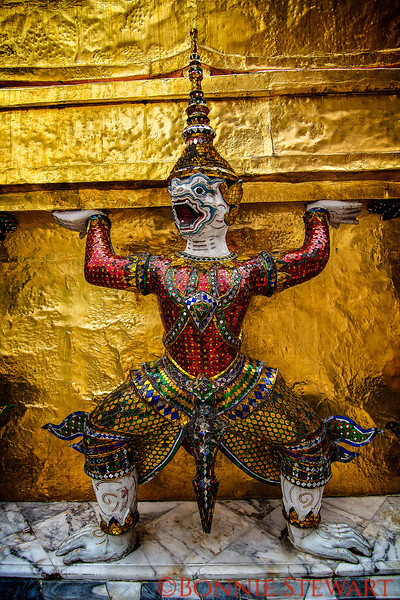 Grand Palace decorative elements of the Grand Palace in Bangkok