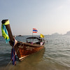 Railay Beach, longtail boat